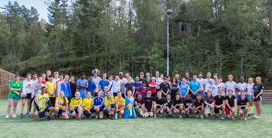 The assembled teams