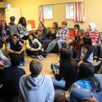 First house meeting - in a student day room