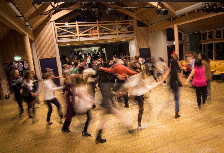 International folk-dance in the Hoegh