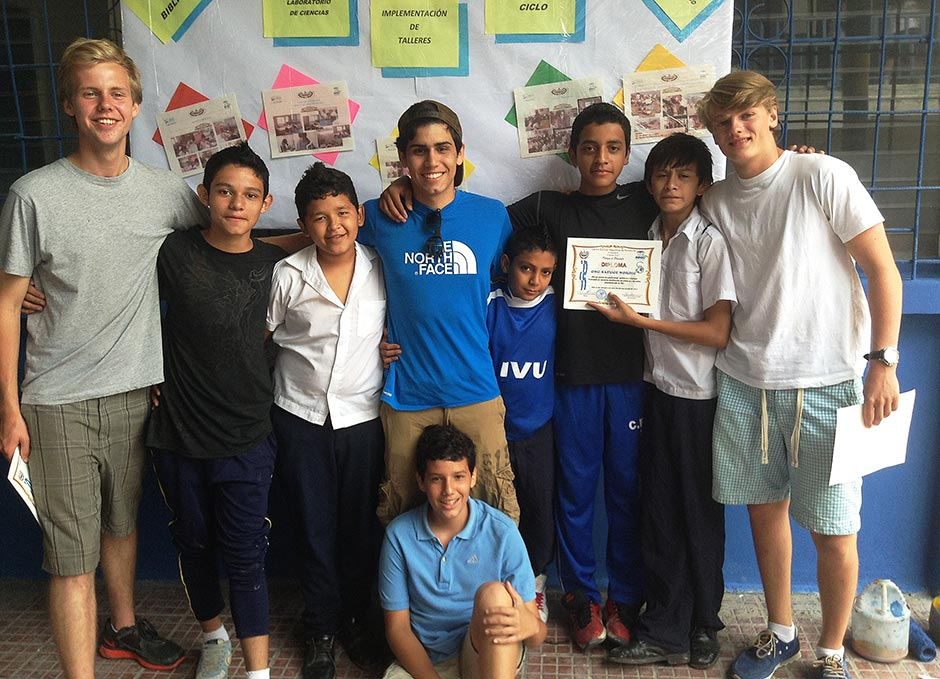 Carlos, Henrik and Knut worked in El Salvador in the Summer 2013 on a Safuge project