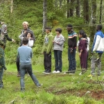 Students learning the low ropes to be able to instruct the Camp School visitors
