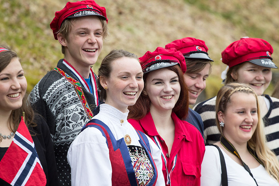 Norwegian students on May 17