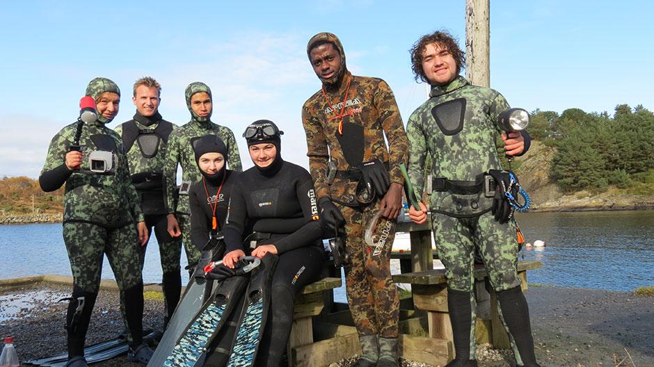 Coastal skin diving