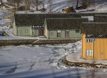 The classrooms on the edge of the frozen fjord