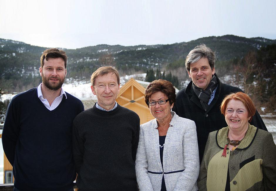 Larry, Hans Lindemann, Tove Veierød, Arne Osland and Ingegerd Wärnersson
