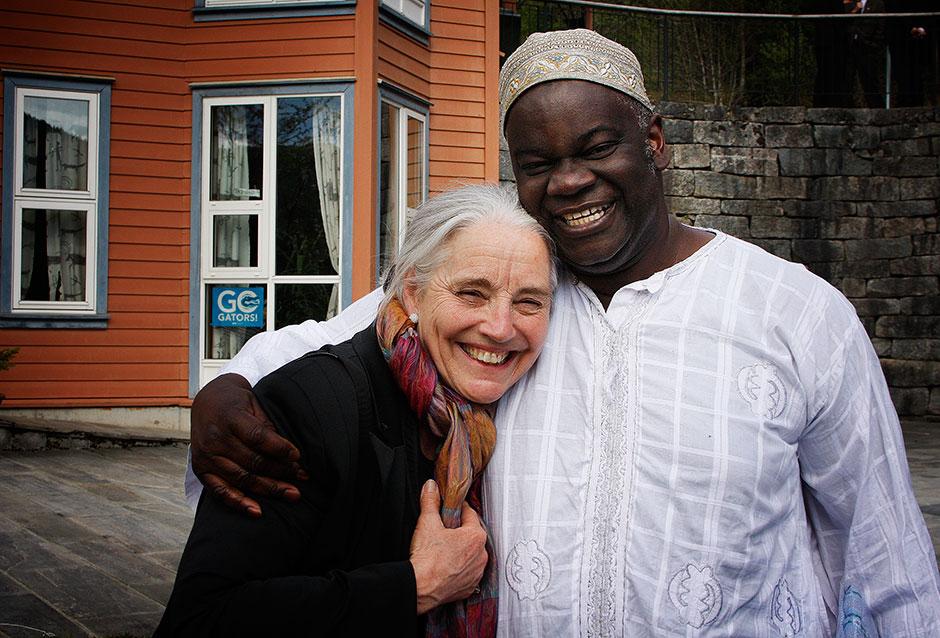 Vibeke from SOS Norway with Development Studies teacher Daniel Toa-Kwapong (Ghana)
