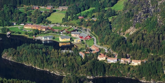 The College from high up across the fjord
