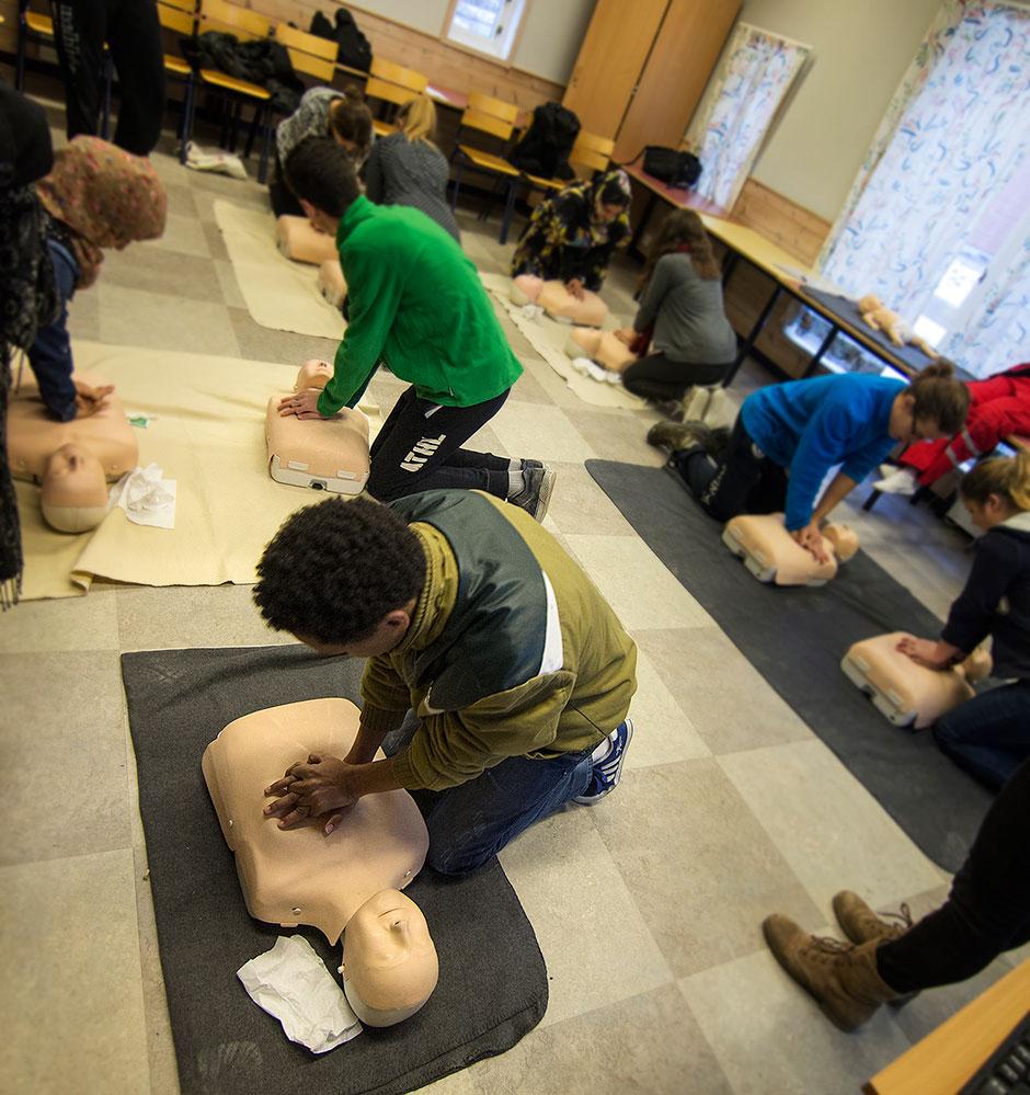 Practising CPR