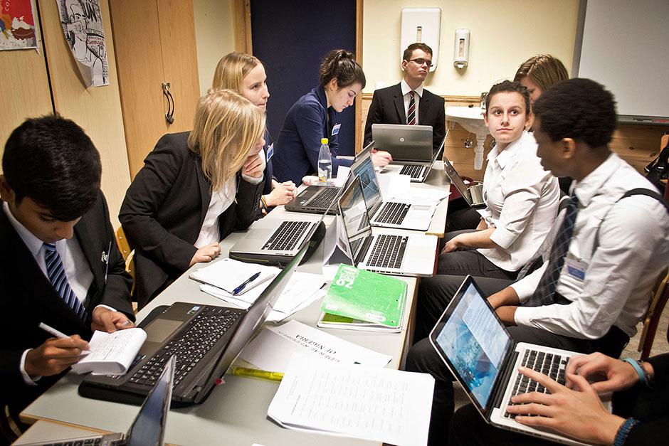 MUN. In the Committee meetings