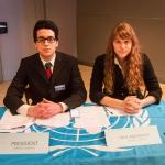 President Ayoub Belemlih (Morocco) and Vice-President Sarah Gerber (Sweden)