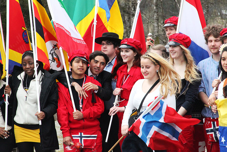 Students on Norwegian National Day - May 17