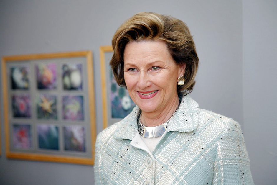 Queen Sonja - on the occasion of her last visit to the College (Photo by Arne Stubhaug)