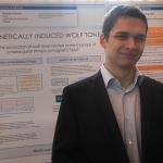 Antonio in front of his presentation
