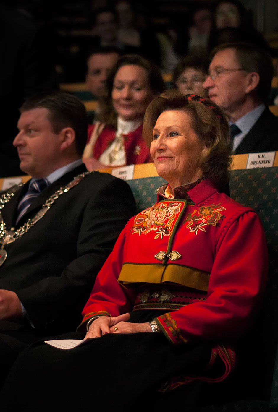 HM Queen Sonja in the auditorium