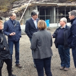 Meeting on the site of the new visitors' centre