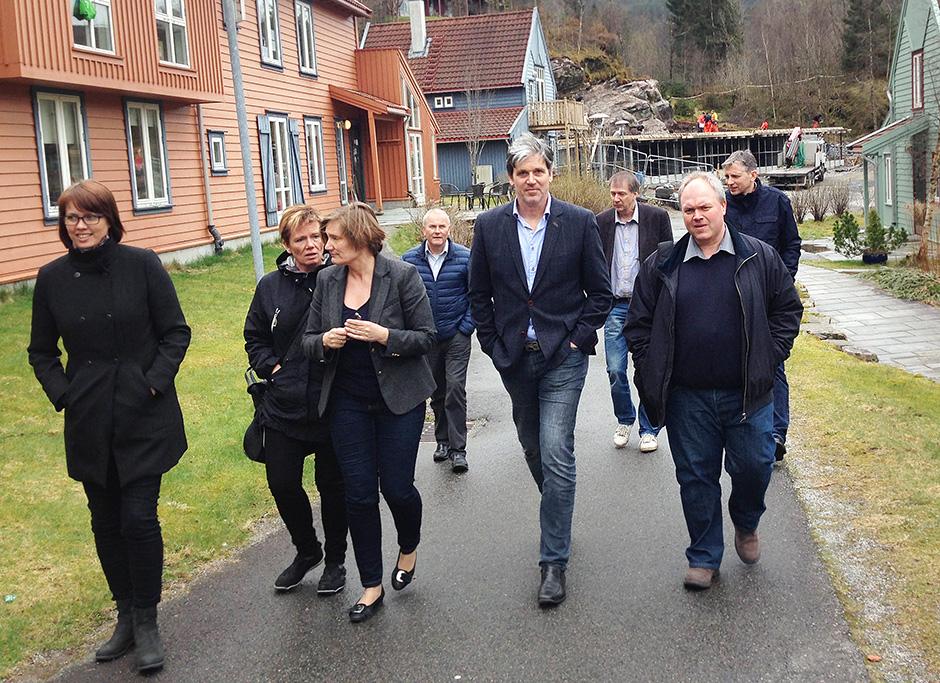 Walking back through the student village