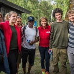 Students with Åsne Havnelid (Secretary General of the Norwegian Red Cross)