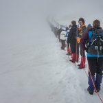 Pietro looking back - as they all head off into the clouds