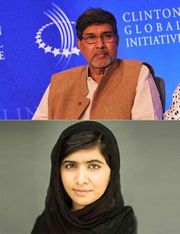 Nobel Peace Prize Winners  2014: Kailash Satyarthi and Malala Yousafzay