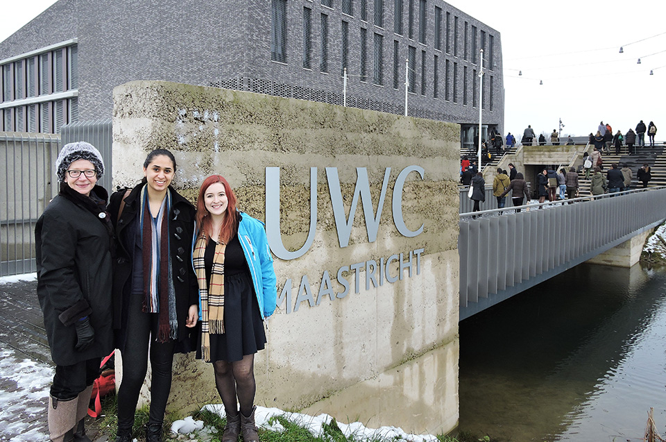 Summer, Iman and Cheyenne at UWC Maastricht