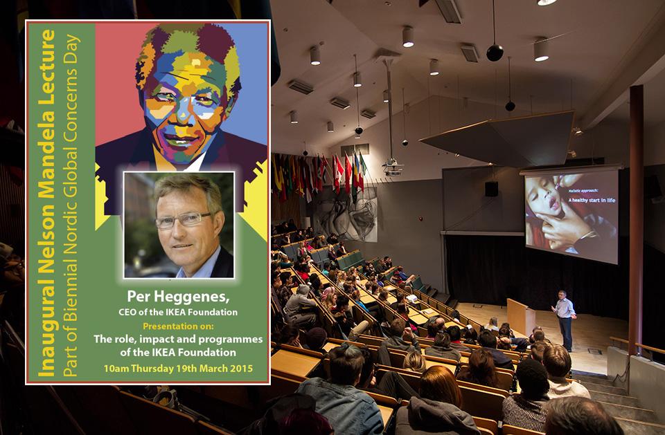 Speaking in the auditorium