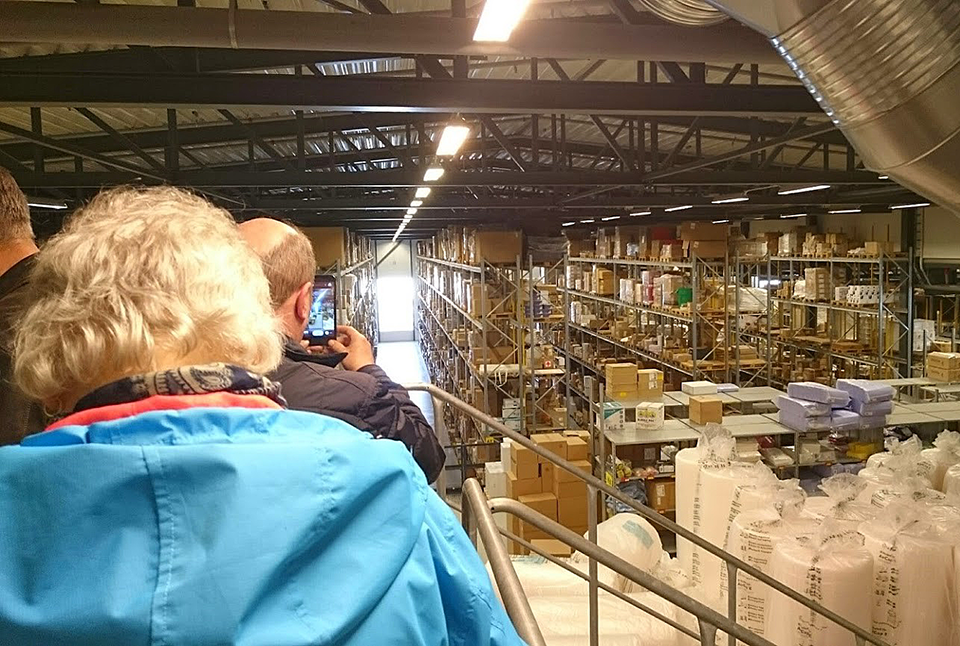 At a supply warehouse