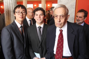 Muxuan and Ricardo with John Nash