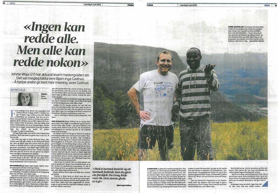 John Woja - back in Norway