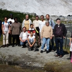 At the glacier