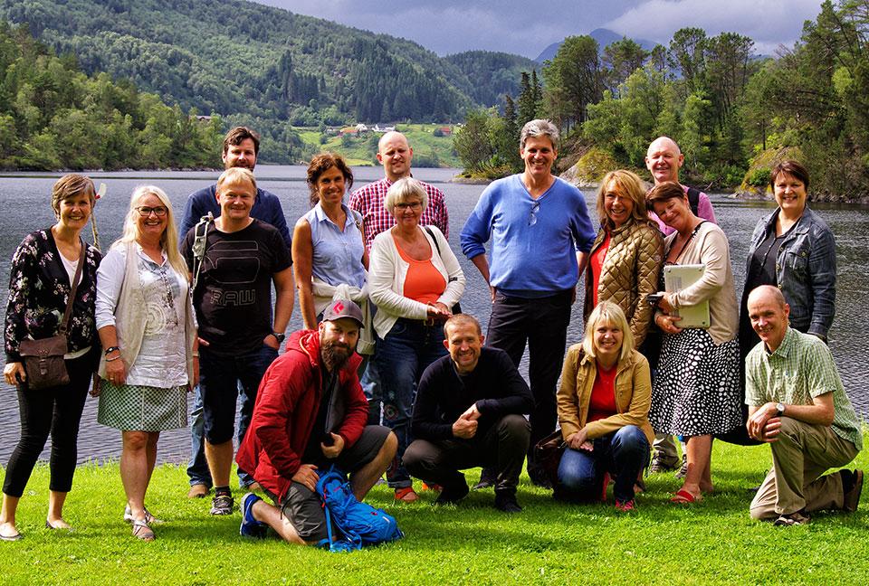 Visitors from Nordahl Grieg Videregående Skole in Bergen