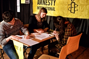 Members of the College Amnesty International group