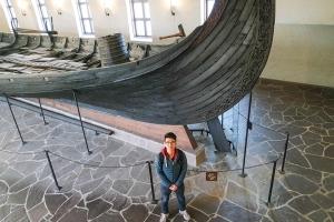 Sonam in the Viking Museum in Oslo