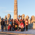 At the Vigeland Statue park in Olso