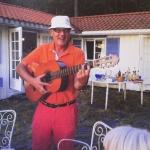 Tom at his cottage on Jomfruland