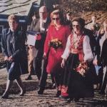 With Queen Noor of Jordan and Queen Sonja of Norway at the opening of the College