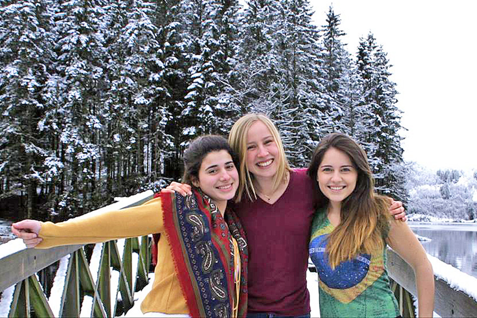 Christina Pavlaki, Sara Löwgren and Leticia Braune