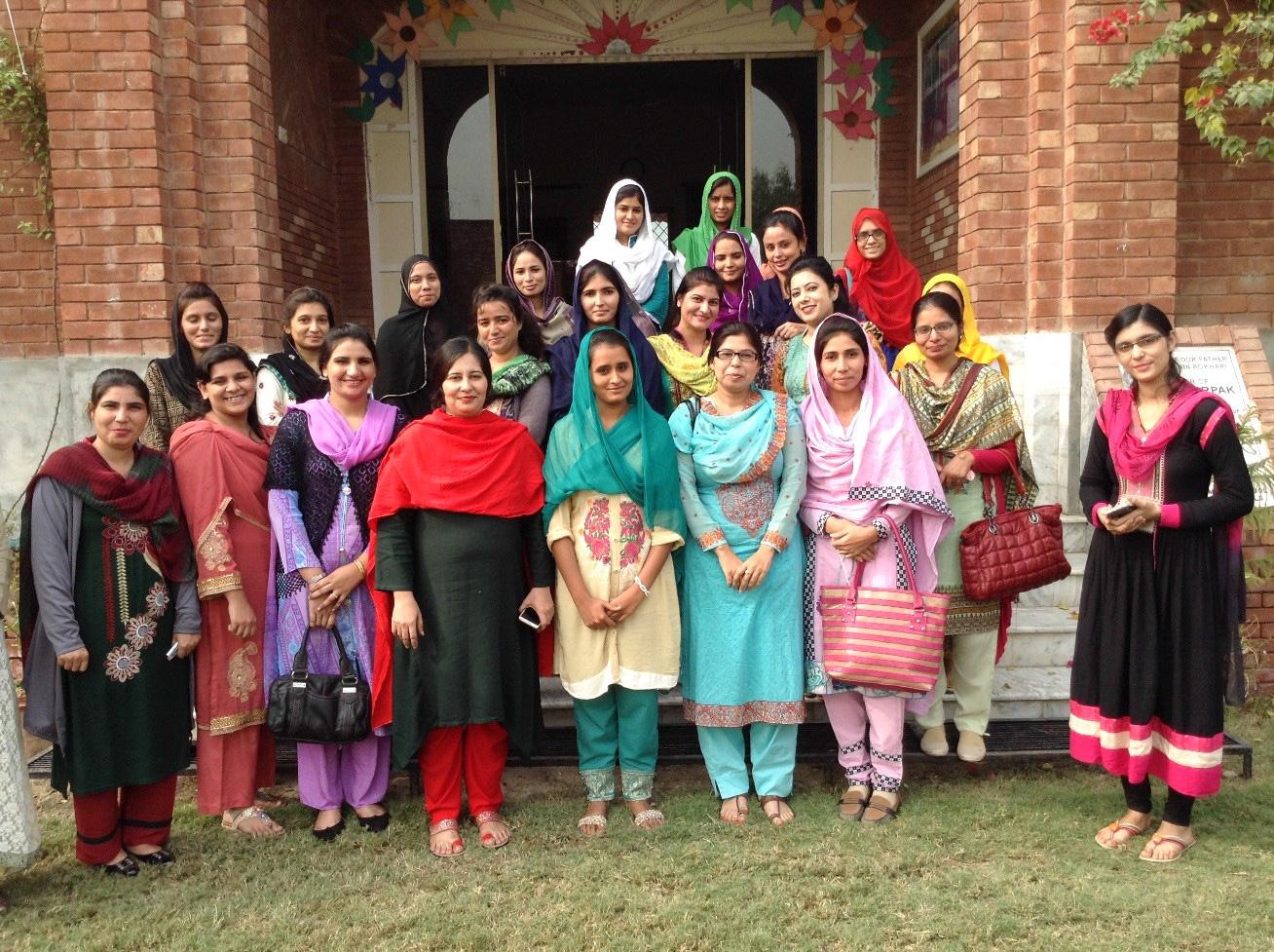 The teachers at the LAMS school in Faisalabad, Pakistan