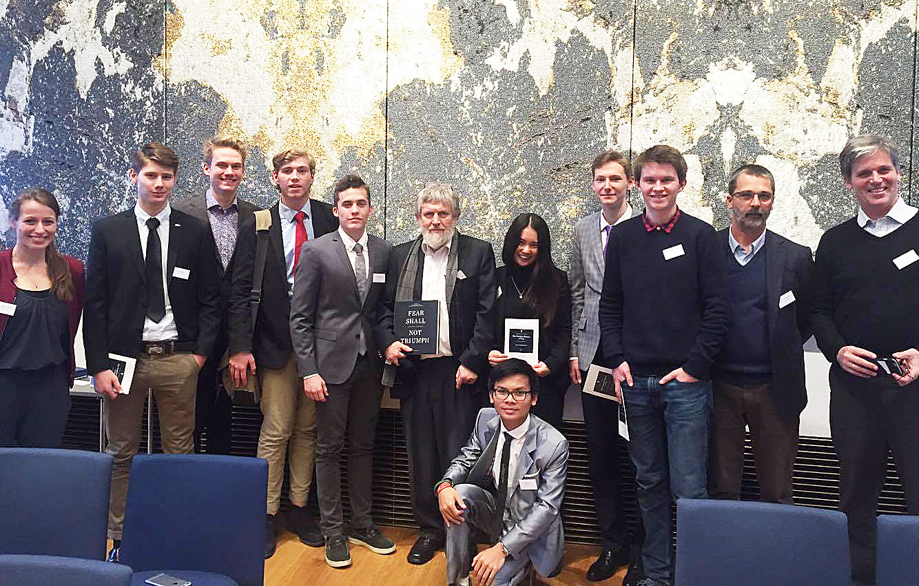 Students at the Rafto Prize Conference in Bergen