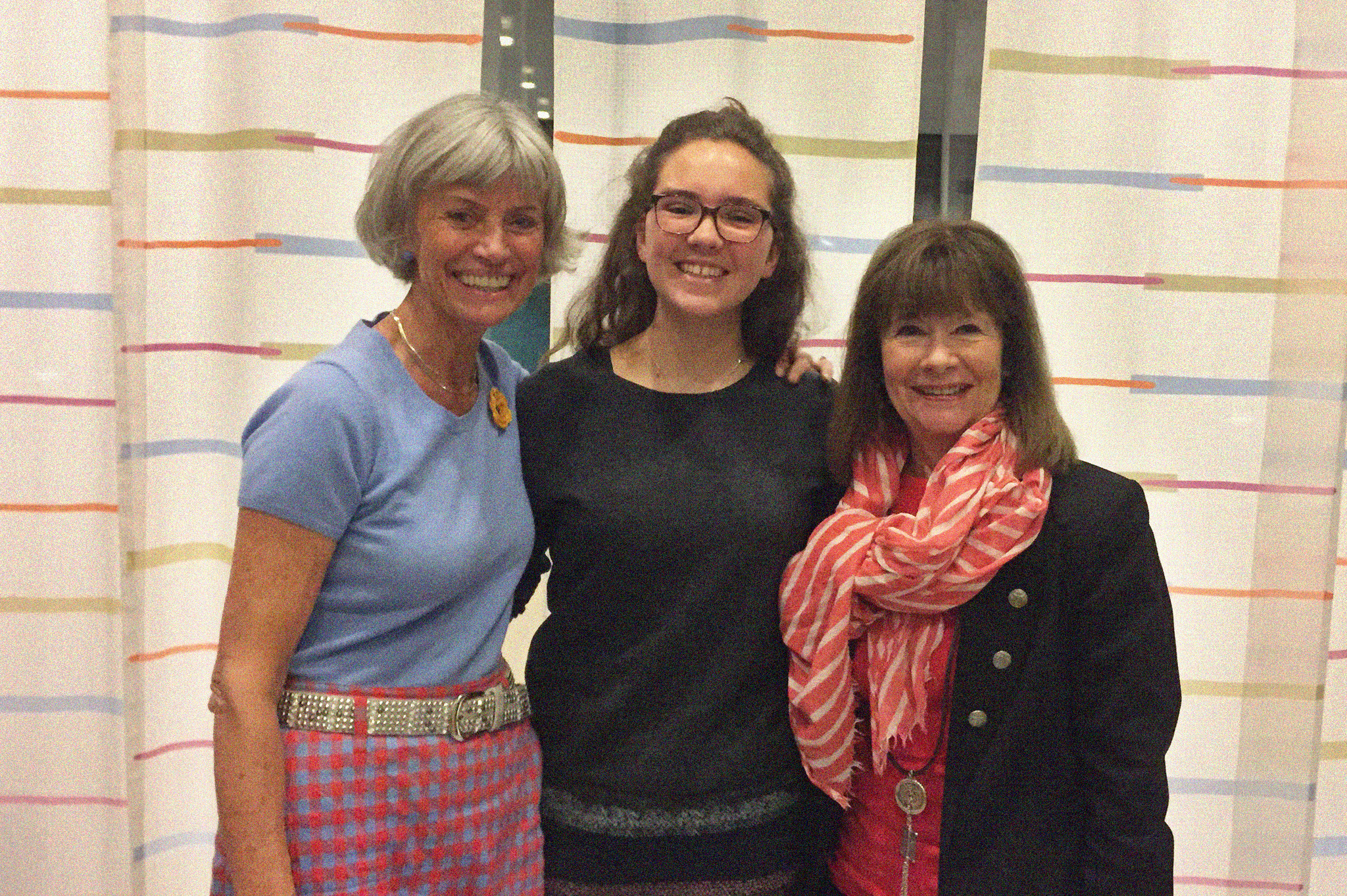 Helen (centre) with Reidun (left) and Ragnhild (right)