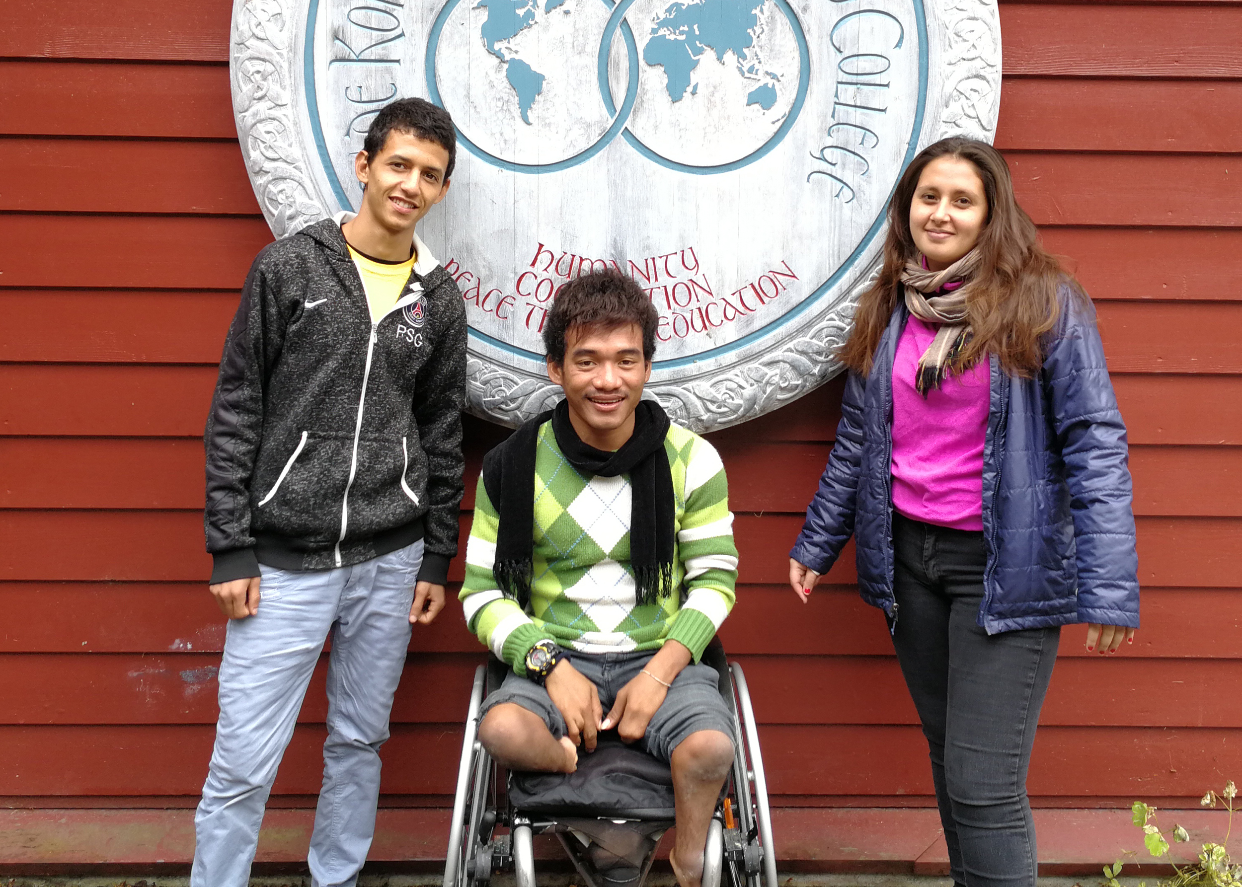 Samira (Niger), Kik (Cambodia) and Mean (Cambodia) - students currently on our Foundation Year Programme