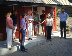 Marianne Andresen opening the new Baking House